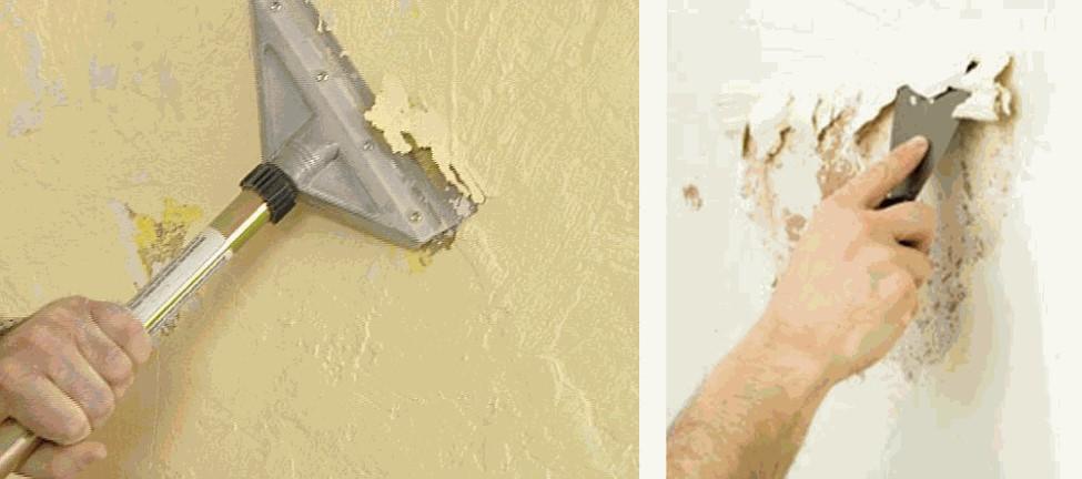 tiến hành xử lý sơn tường nhà cũ