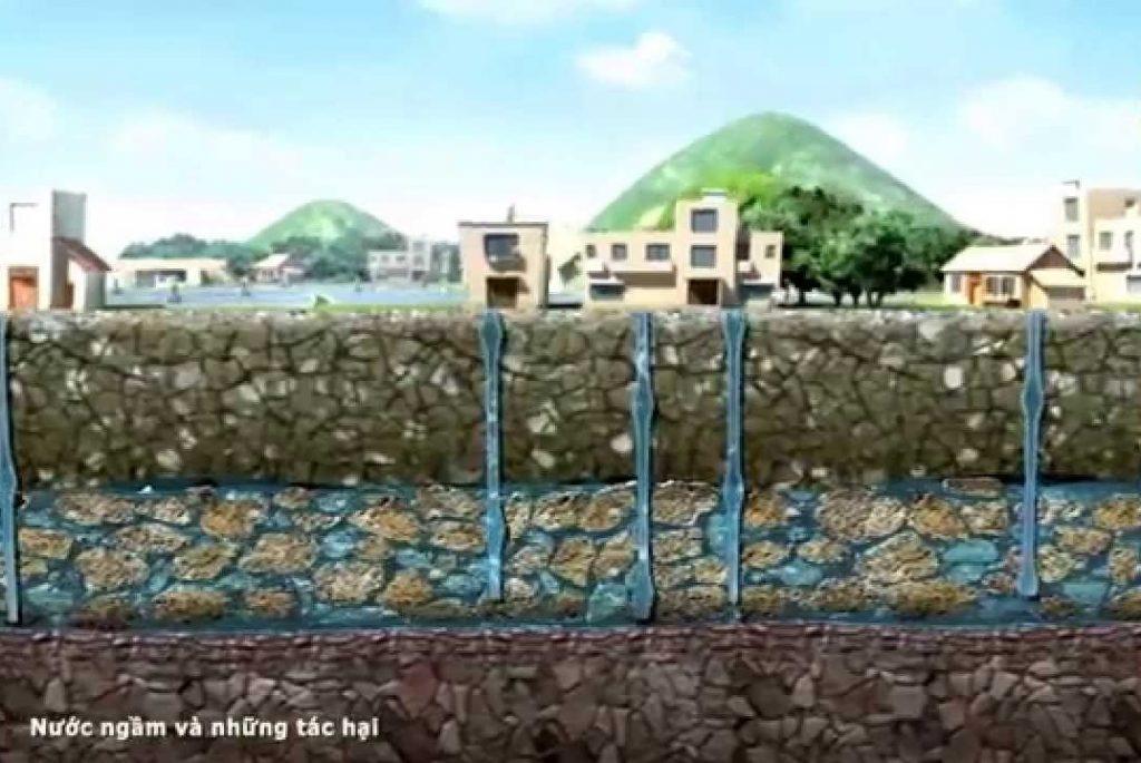 Chú ý chống thấm khu vực có mạch nước ngầm