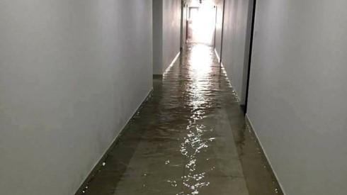 ngập nước chung cư flc 36 phạm hùng