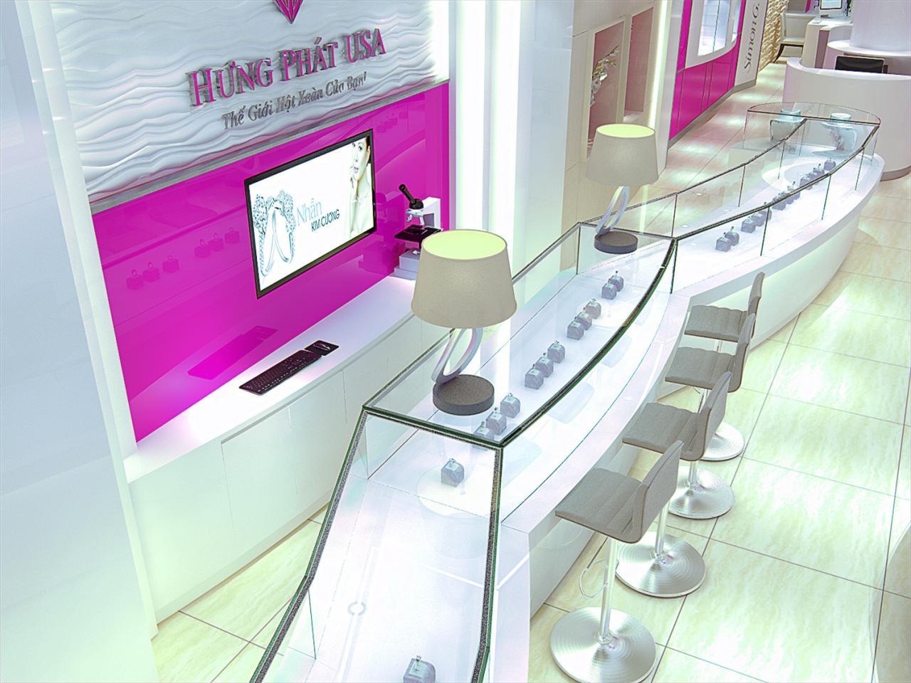 thiết kế trưng bày sản phẩm hưng phát usa