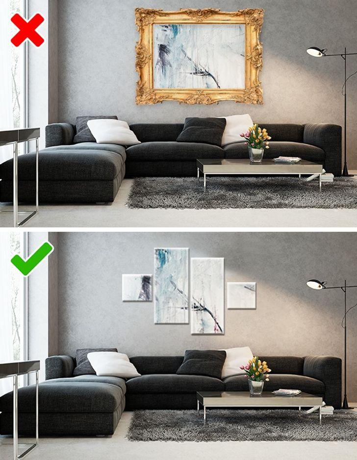 Trang trí nhà với những bức tranh cô đơn với khung hình khổng lồ