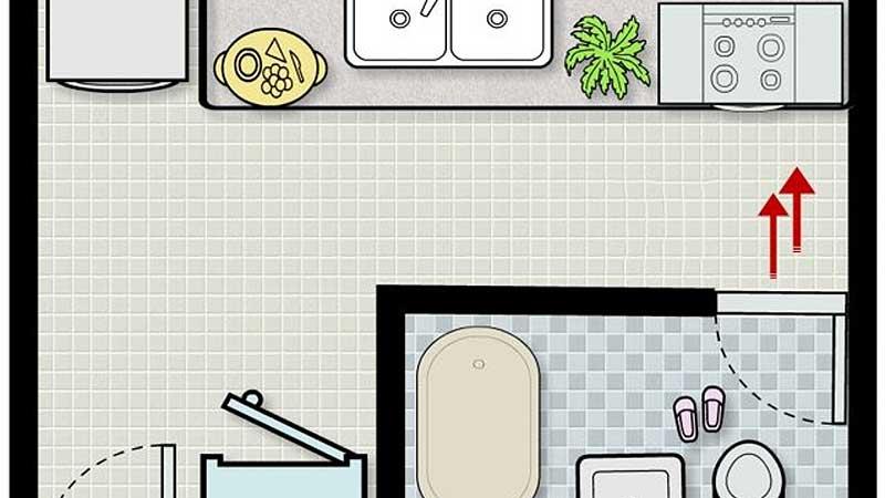 Thiết Kế, Sửa Chữa Nhà Bếp Kiêng Đặt Nhà Bếp Đối Diện Với Nhà Vệ Sinh