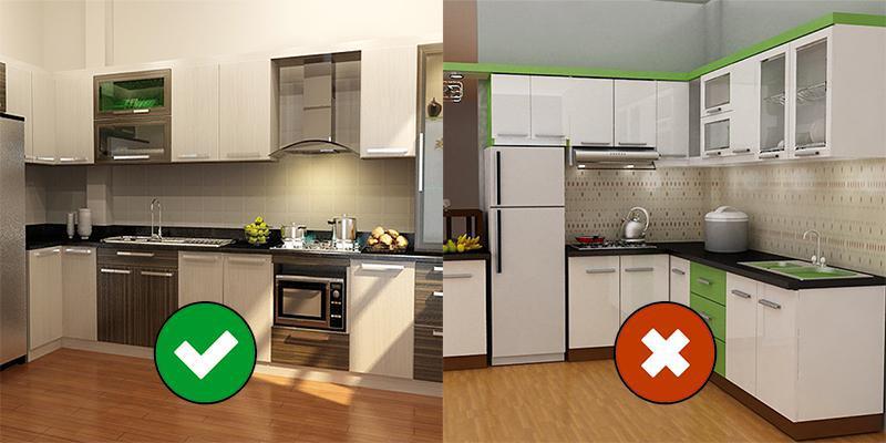 sai lầm trong thiết kế phòng bếp khiến bạn bất an