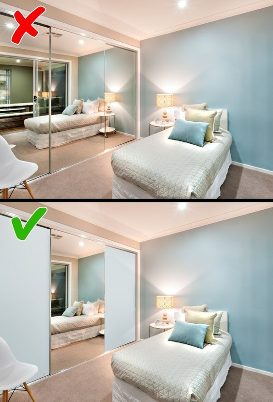 sai lầm trong thiết kế phòng ngủ khiến bạn bất an