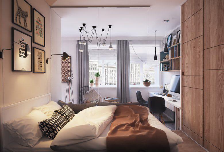 phòng ngủ chung cư 40m2